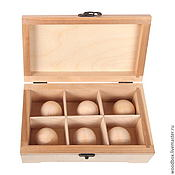 Подарки к праздникам handmade. Livemaster - original item 24148(6)Ball Box 24 14 8 blank with balls for decoupage. Handmade.