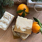 Мыло ручной работы. Ярмарка Мастеров - ручная работа Натуральное мыло с мандарином и желтой глиной. Handmade.