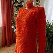 """Одежда ручной работы. Ярмарка Мастеров - ручная работа Ажурный пуловер """"Апельсиновый фреш"""". Handmade."""