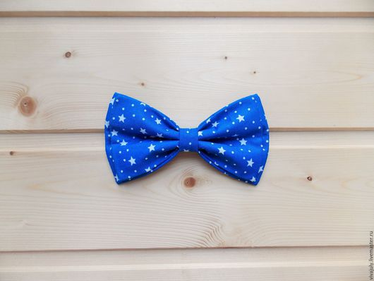 ярко-синяя галстук бабочка / бабочка галстук со звездочками