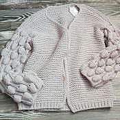 """Одежда ручной работы. Ярмарка Мастеров - ручная работа Кардиган """"малинки"""". Handmade."""