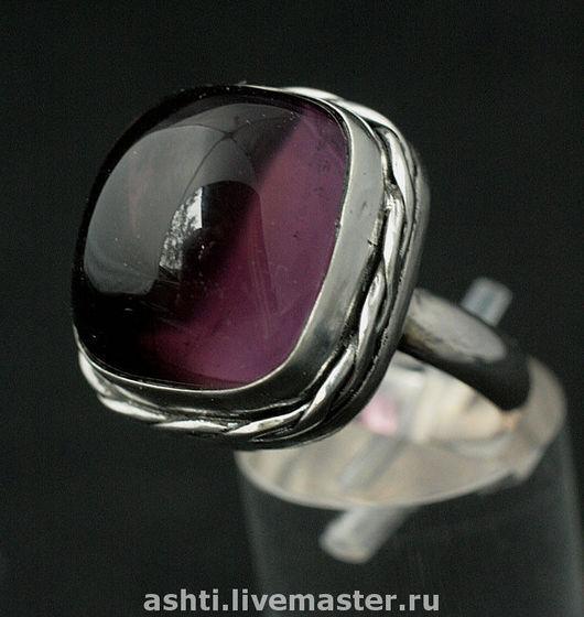Кольца ручной работы. Ярмарка Мастеров - ручная работа. Купить Кольцо с аметистом - 146. Handmade. Фиолетовый
