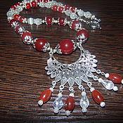 Украшения handmade. Livemaster - original item Necklace made of natural stones of carnelian and agate. Handmade.