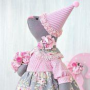 Куклы и игрушки ручной работы. Ярмарка Мастеров - ручная работа Мышка для именинницы, игрушка мышка в подарок. Handmade.