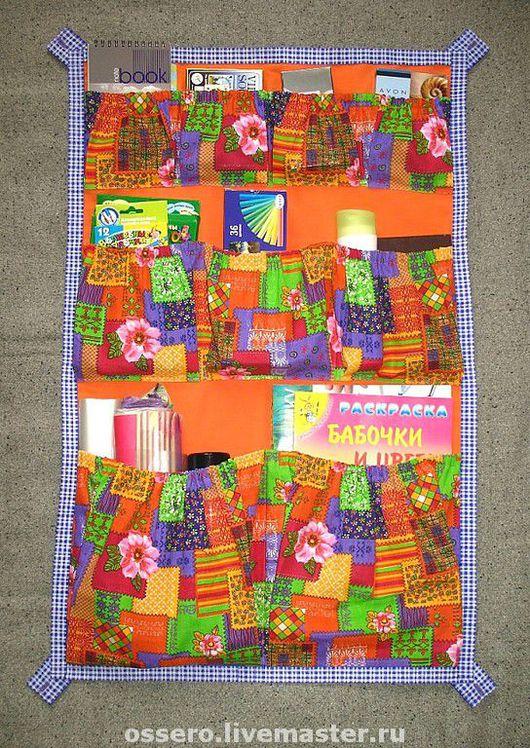Детская ручной работы. Ярмарка Мастеров - ручная работа. Купить Настенные карманы. Handmade. Настенные карманы, настенный органайзер, оранжевый