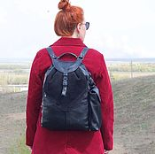 Сумки и аксессуары handmade. Livemaster - original item Backpack transformer for sport and leisure made from natural leather and suede under. Handmade.