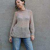 Одежда handmade. Livemaster - original item Mohair sweater with sequins oversize Thin sweater. Handmade.
