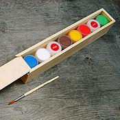 Материалы для творчества handmade. Livemaster - original item Paint: A set of paints, lacquer, primer, brush in gift box. Handmade.