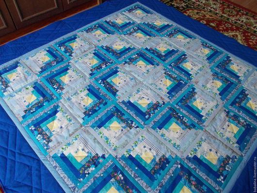 """Текстиль, ковры ручной работы. Ярмарка Мастеров - ручная работа. Купить Лоскутное покрывало """"Зима"""". Handmade. Синий, покрывало в спальню"""