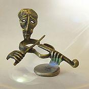Статуэтки ручной работы. Ярмарка Мастеров - ручная работа Скрипач скульптура бронза. Handmade.