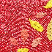 Для дома и интерьера ручной работы. Ярмарка Мастеров - ручная работа коврик вязанный (коврик на пол, коврик крючком) Осень. Handmade.
