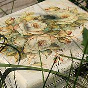 Для дома и интерьера ручной работы. Ярмарка Мастеров - ручная работа шкатулка Желтые розы. Handmade.