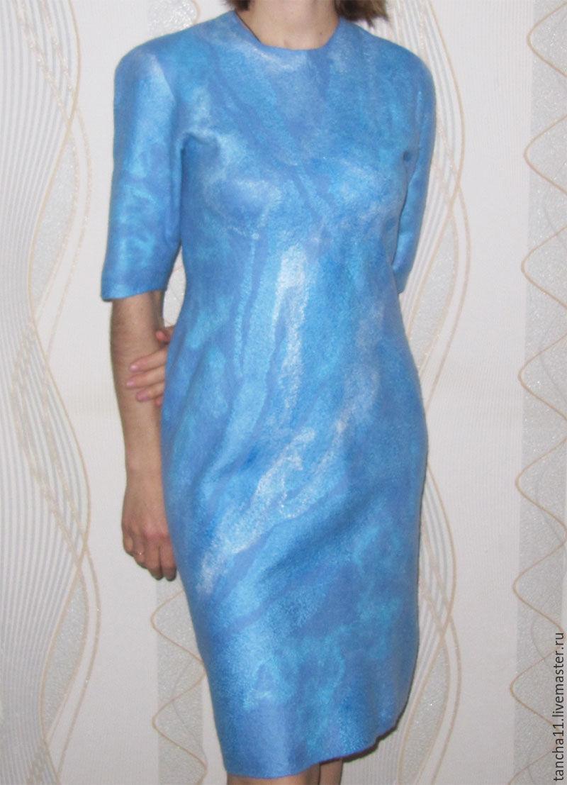 Dress to order, handmade dress, `Blue Dream` dress, buy a dress `Blue Dream`