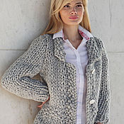 Одежда handmade. Livemaster - original item jacket color light grey. Handmade.