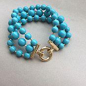 Украшения handmade. Livemaster - original item Bracelet and earrings TARQUOISE of crystal pearls Swarovski. Handmade.