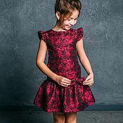 Работы для детей, ручной работы. Ярмарка Мастеров - ручная работа Нарядное платье для девочки «Эля» (107). Handmade.