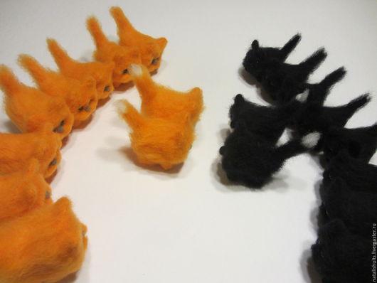 """Игрушки животные, ручной работы. Ярмарка Мастеров - ручная работа. Купить """"стенка на стенку"""". Handmade. Котята, шерсть"""