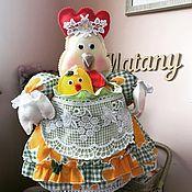 Сувениры и подарки handmade. Livemaster - original item Chicken-hot water bottle on the kettle. interior doll for the kitchen. Handmade.