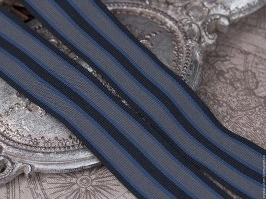 Для украшений ручной работы. Ярмарка Мастеров - ручная работа. Купить Лента на орден 30мм Синий мундир. Handmade. Лента