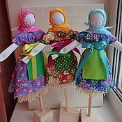 Куклы и игрушки ручной работы. Ярмарка Мастеров - ручная работа Куколки Масленицы. Handmade.