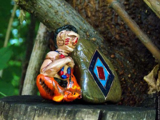 """Обереги, талисманы, амулеты ручной работы. Ярмарка Мастеров - ручная работа. Купить Индейский символ """"Хиитени"""". Handmade. Комбинированный, шаман"""