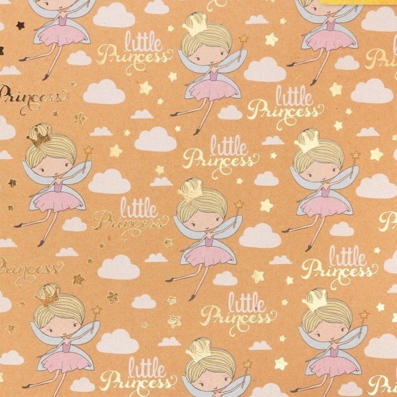 Бумага крафтовая «Маленькая принцесса», 20x20 см, Бумага, Челябинск,  Фото №1