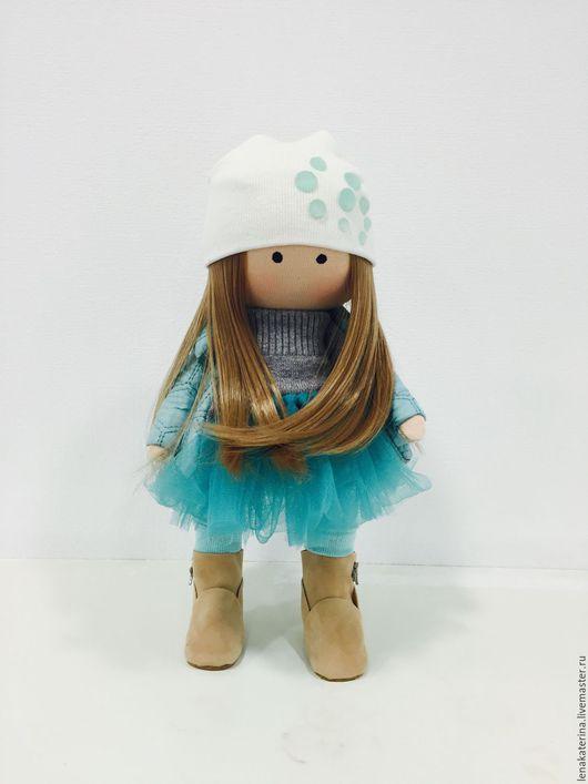 Коллекционные куклы ручной работы. Ярмарка Мастеров - ручная работа. Купить Кукла текстильная.Кукла интерьерная.. Handmade. Бирюзовый