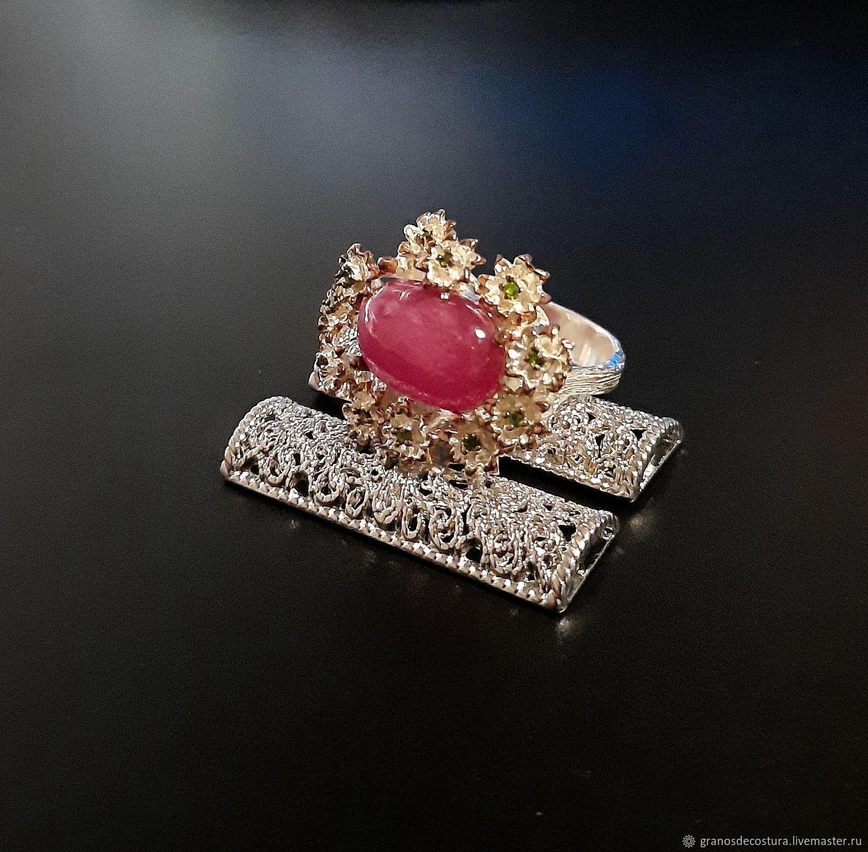 Ruby ring in flowers, Rings, Krasnodar,  Фото №1