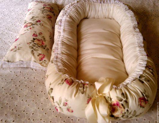 """Для новорожденных, ручной работы. Ярмарка Мастеров - ручная работа. Купить Бебинест """"Princess""""+подушечка. Handmade. Бебинест, бортик, кружево"""