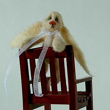 Куклы и игрушки ручной работы. Ярмарка Мастеров - ручная работа Грустный заец. Handmade.
