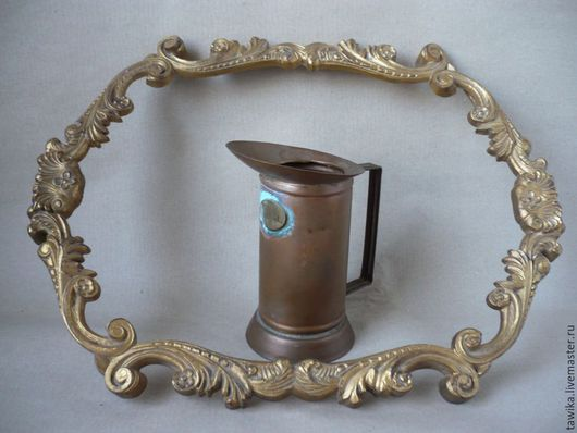 Винтажная посуда. Ярмарка Мастеров - ручная работа. Купить Кружка / ваза / подставка  антикварная , медь, Австрия. Handmade.