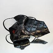 Аксессуары handmade. Livemaster - original item Tie crocodile skin GENTLEMAN. Handmade.