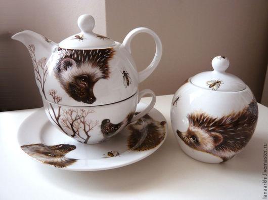 Сервиз `Ежики любят пить чай с пирожными`