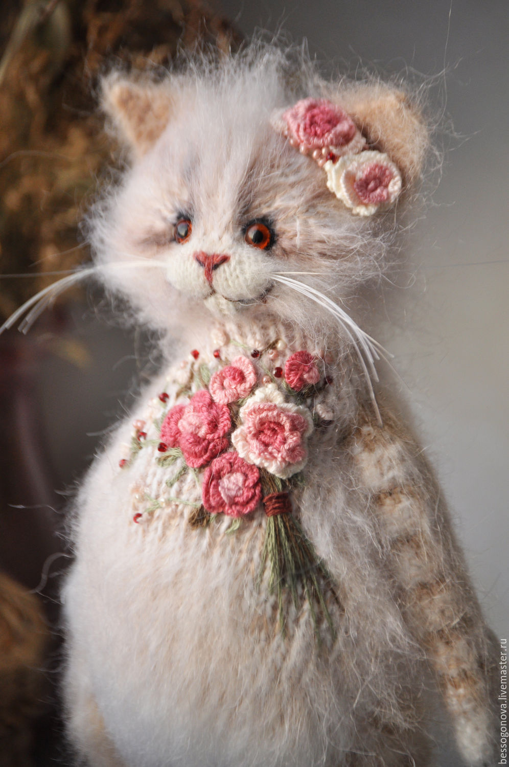 Embroidered coat rose cat toy – shop online on Livemaster with ...