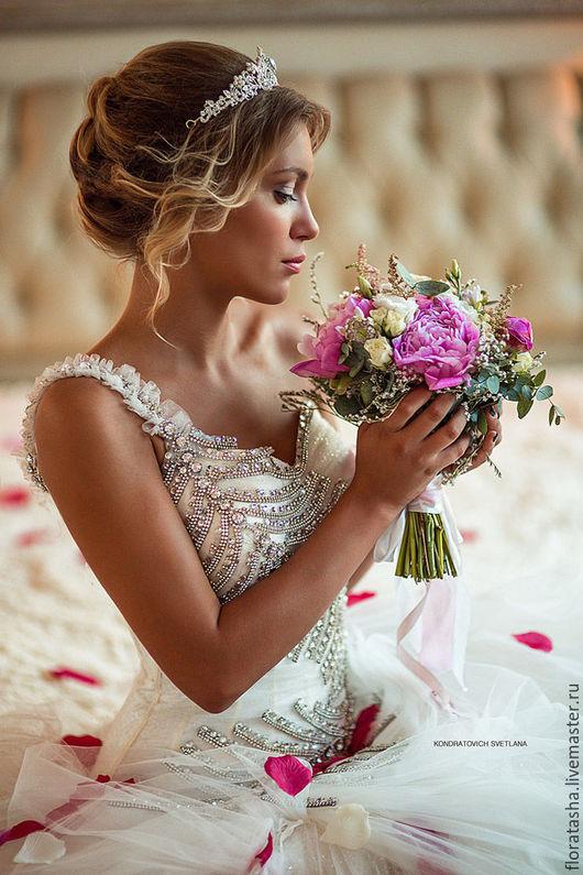 """Букеты ручной работы. Ярмарка Мастеров - ручная работа. Купить Букет невесты """"Романтика"""". Handmade. Розовый, невеста, букет"""