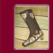 Обувь ручной работы. Ярмарка Мастеров - ручная работа Валенки на каблуках. Handmade.