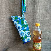 Сумки и аксессуары handmade. Livemaster - original item Bag carrying case thermos of fabric for the water White daisies. Handmade.