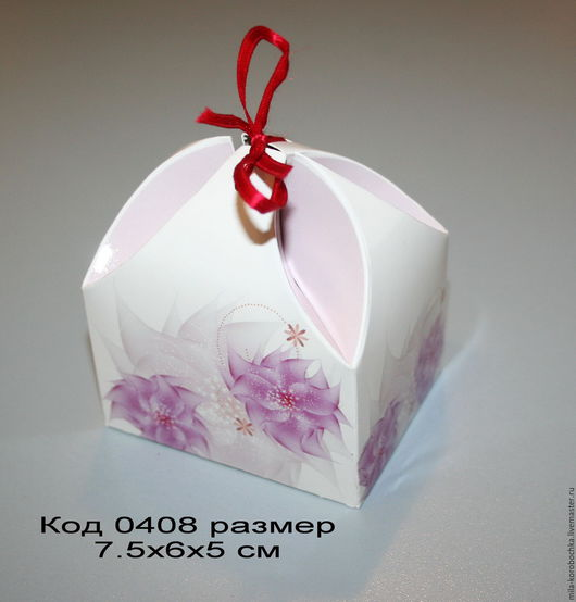 Код 0408 коробочка `сундучок` размер 7.5х6х5 см Закрывается при помощи завязочки (в комплект не входит).