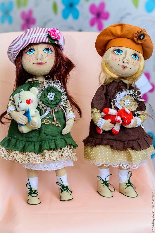 """Коллекционные куклы ручной работы. Ярмарка Мастеров - ручная работа. Купить Куклы ручной работы """"Эльза и Эля"""". Handmade. Комбинированный"""