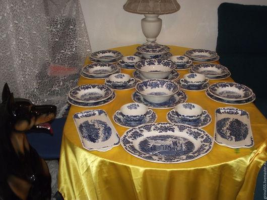 Винтажная посуда. Ярмарка Мастеров - ручная работа. Купить Англицкий столовый винтажный сервиз на 6 п. Enoch Wedgwood.. Handmade.
