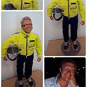 """Куклы и игрушки ручной работы. Ярмарка Мастеров - ручная работа Портретная кукла """" Мотоциклист """". Handmade."""