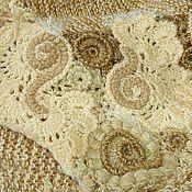 Одежда ручной работы. Ярмарка Мастеров - ручная работа Стильный короткий вязаный кардиган-бохо в карамельных тонах. Handmade.
