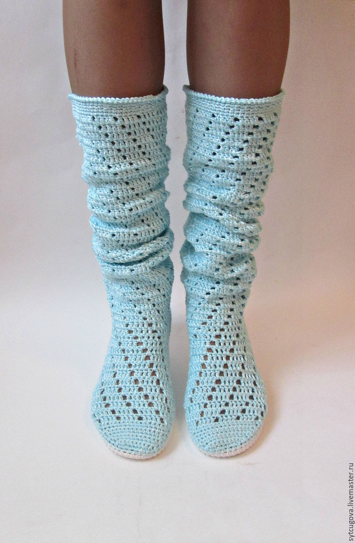 27b97a75548ba1 Обувь ручной работы. Ярмарка Мастеров - ручная работа. Купить Вязаные  сапожки .