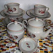 Винтаж ручной работы. Ярмарка Мастеров - ручная работа Сервиз чайный 18 предметов на 4 персоны. Handmade.