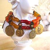 handmade. Livemaster - original item Copy of Copy of Elegant agate bracelet brown. Handmade.