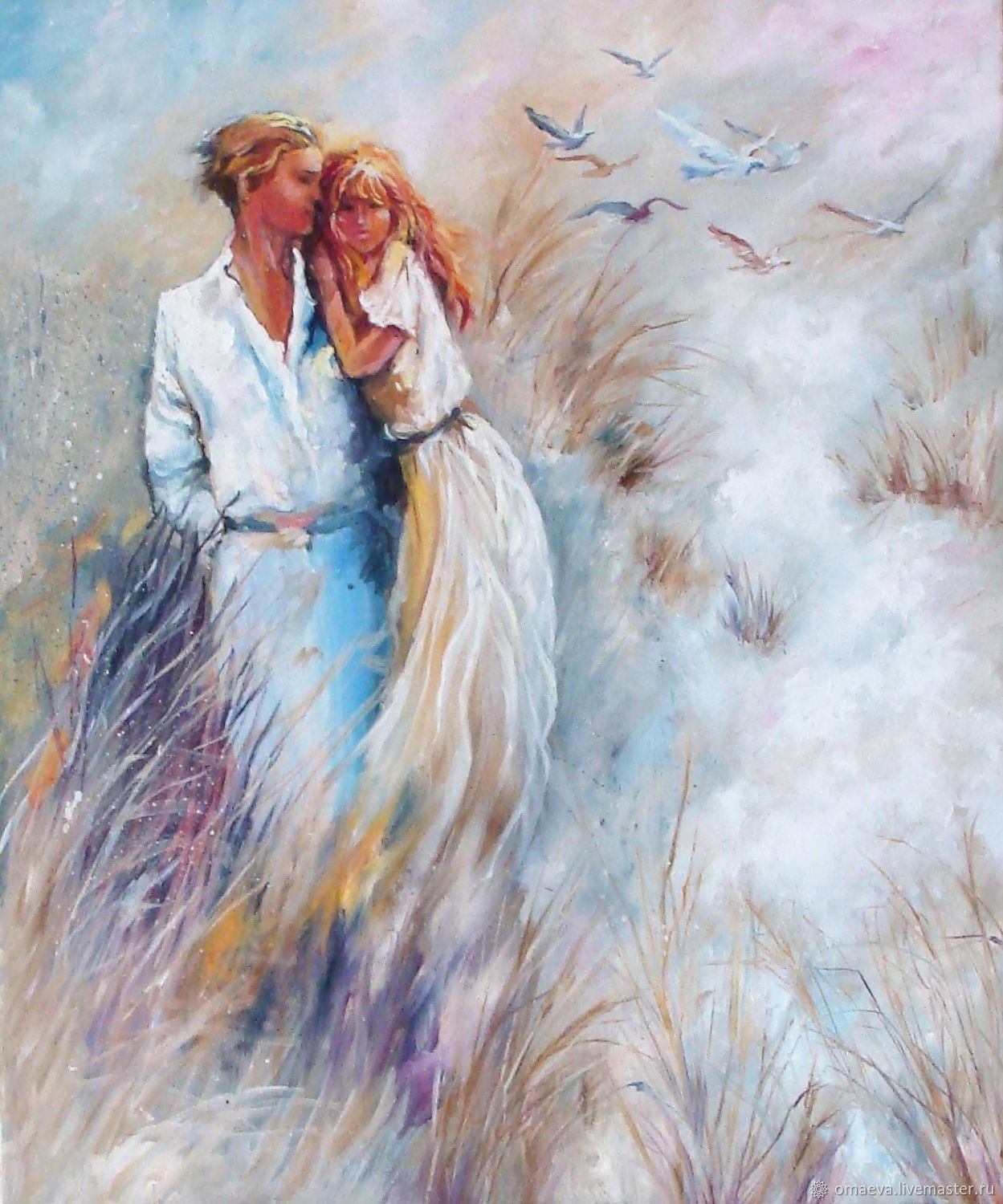 Lovers love and tenderness in the picture oil Painting, Pictures, Nizhny Novgorod,  Фото №1