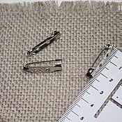 Материалы для творчества ручной работы. Ярмарка Мастеров - ручная работа Основа для броши большая прямоуголная пришивная. Handmade.