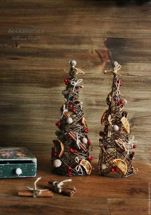 Новогодний интерьер. Елка настольная. Эко-елка. Новогодний подарок.Рождественский венок. казань