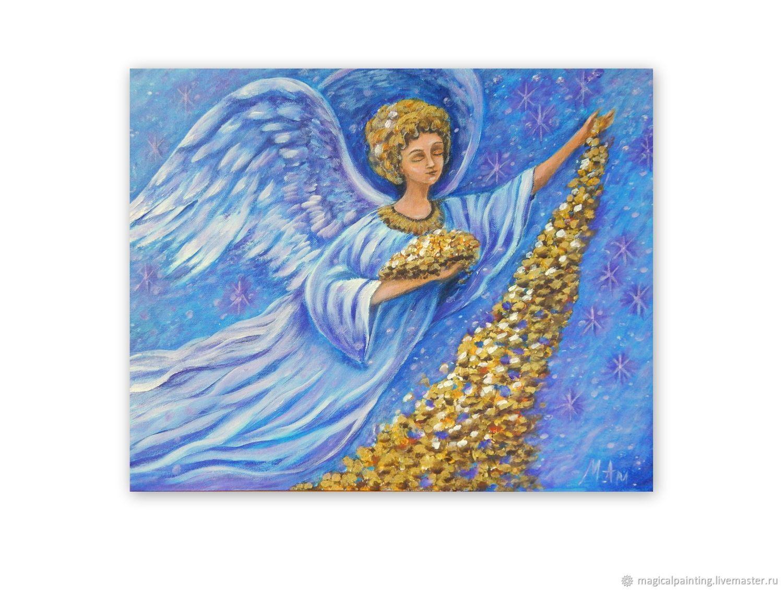 """Картина с ангелом """"Дары Небес"""", Картины, Санкт-Петербург,  Фото №1"""