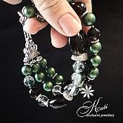 Украшения handmade. Livemaster - original item Bracelet made of Swarovski pearls and Topaz. Handmade.